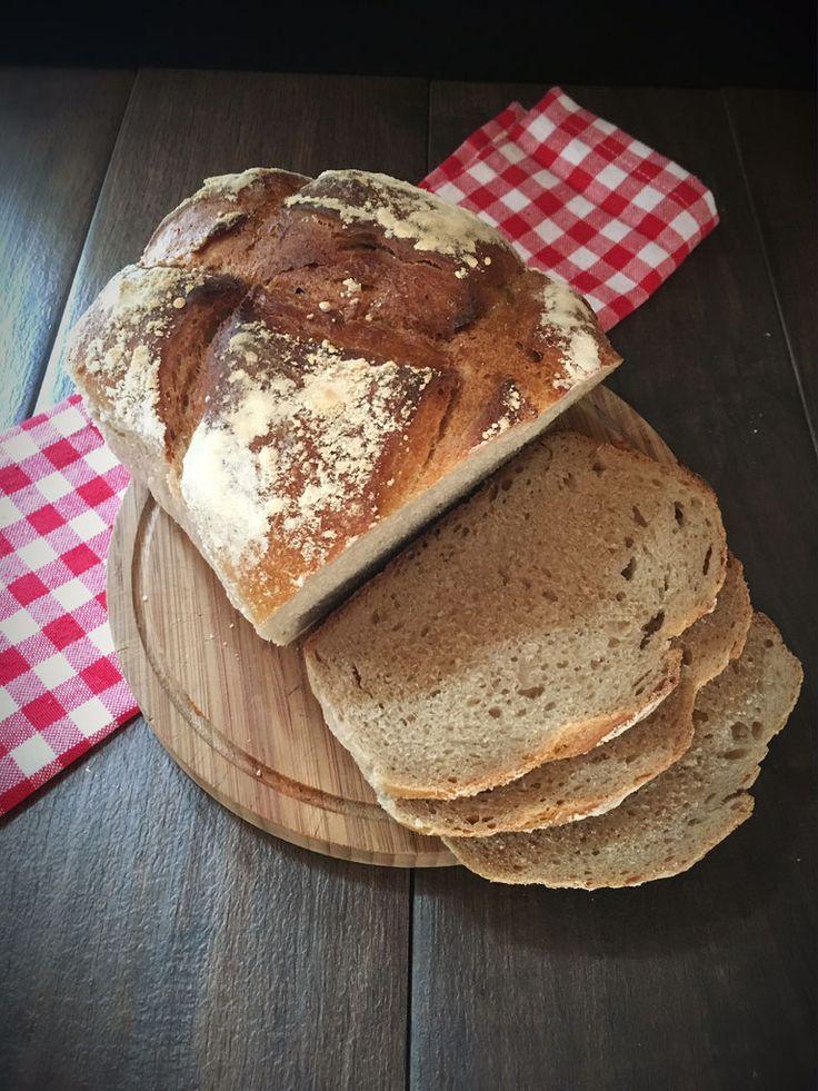 Brot selbst gebacken mit Teig aus dem Thermomix, Dinkel-Zwilling aus dem Zaubermeister Pampered Chef