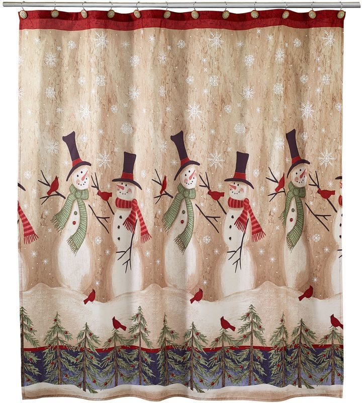 10 best Christmas Shower Curtains images on Pinterest   Christmas ...