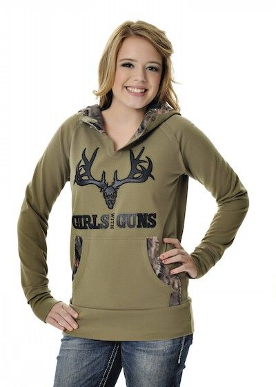 Girls With Guns Clothing Camo Buck Hoodie - Green