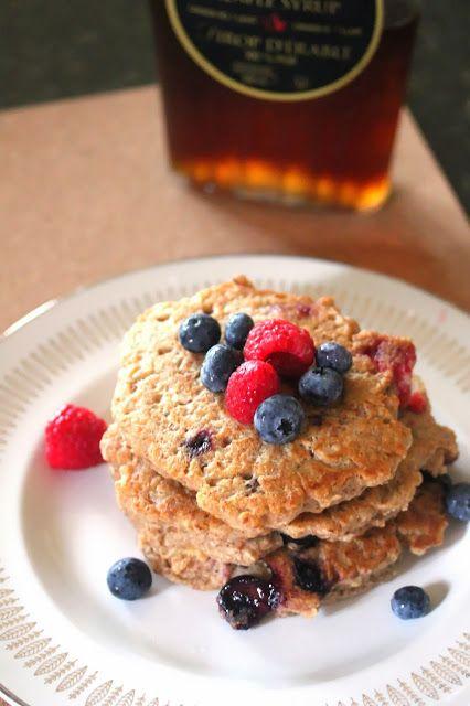 Kitchen Grrrls.: Hearty Whole Wheat and Oat Vegan Pancakes