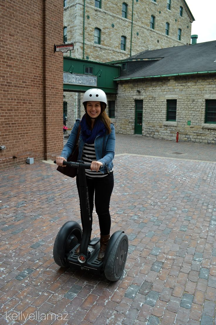 Segway tour around Toronto's distillery district. (Click the image to find out more)