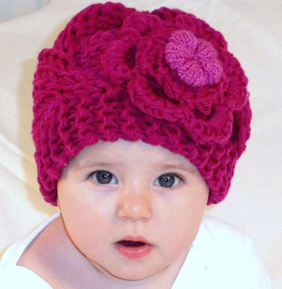 Baby Girl Hats  Baby Girl Knit Hat  Knit by PrettyBagsByMia