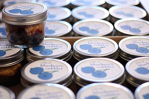 blueberry cobbler in a jar !: Gift, Sweet, Food, Fundraiser, Bake Sale Ideas, Blueberry Cobbler, Favorite Recipes