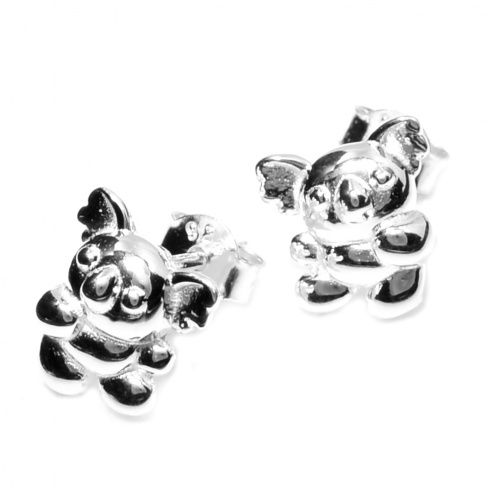 Sterling Silver Jewellery UK: Adorable Tiny Sterling Silver Koala Earrings