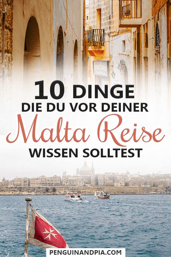 Wichtige Dinge, die du vor deiner Malta Reise wissen solltest