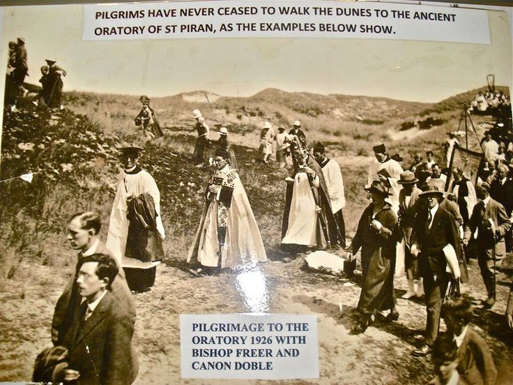 ST PIRAN | St Piran's Oratory (1926): Pilgrimage to the Oratory led by Bishop Freer and Canon Doble ✫ღ⊰n