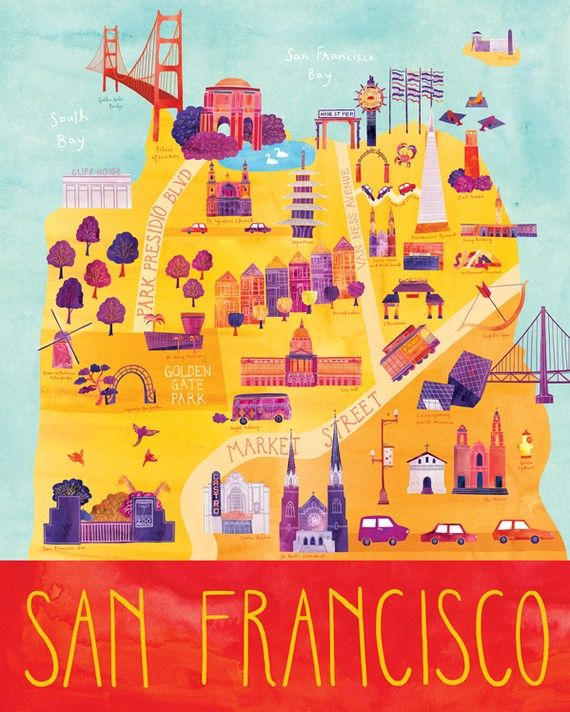 illustrated san francisco