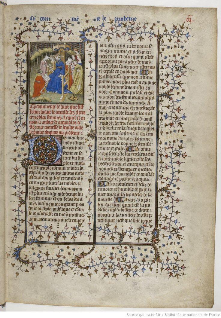 De Claris mulieribus, fol. 3.