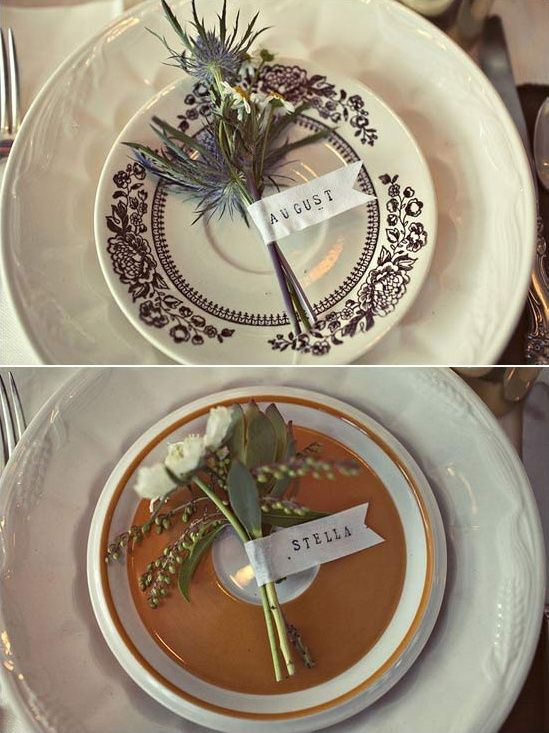 まるで小さなブーケのような ウエディング・結婚式の席札とテーブルコーディネート作品