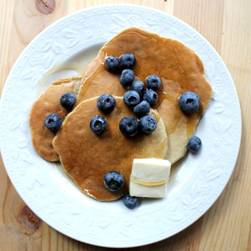 1 ripe banana + 1 egg + 2 tablespoons flour = The easiest pancakes you'll ever make. | CookingLight.com: