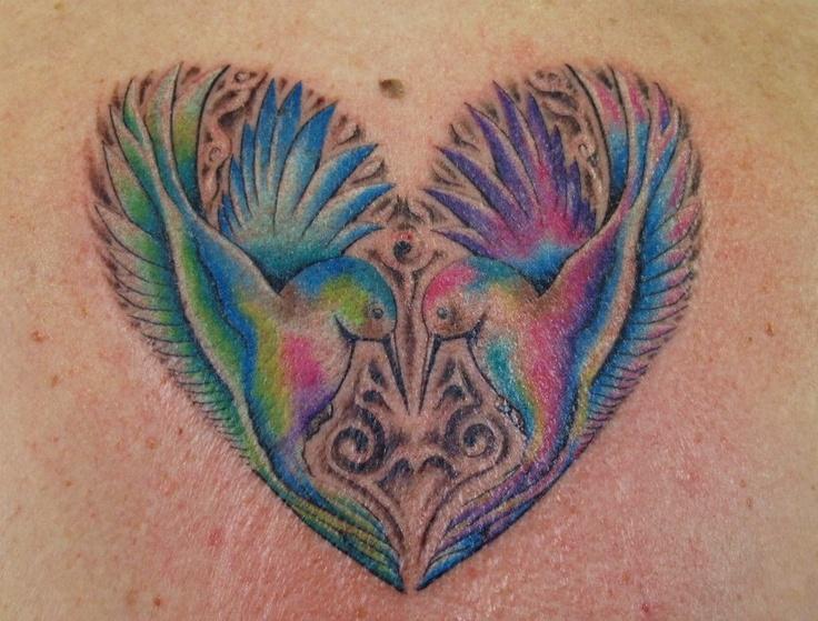 1995 Tattoo Design: Humming Birds Tattoo. DERMAGRAFFITI TATTOO AND PIERCING