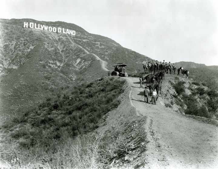 Quot Hollywoodland Quot Sign Before It Became Quot Hollywood Quot Old