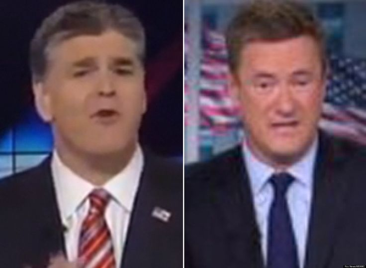 "Sean Hannity dedicated an entire segment of his Thursday night show to excoriating MSNBC host Joe Scarborough, who he called ""a left-wing journalist."""