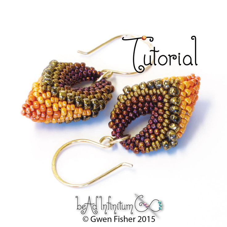 TUTORIAL Victory Pod Earrings, Beaded with Cellini Peyote Stitch by gwenbeads on Etsy https://www.etsy.com/listing/258021406/tutorial-victory-pod-earrings-beaded