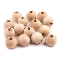 Drevené koráliky 12 mm na výrobu detských hračiek