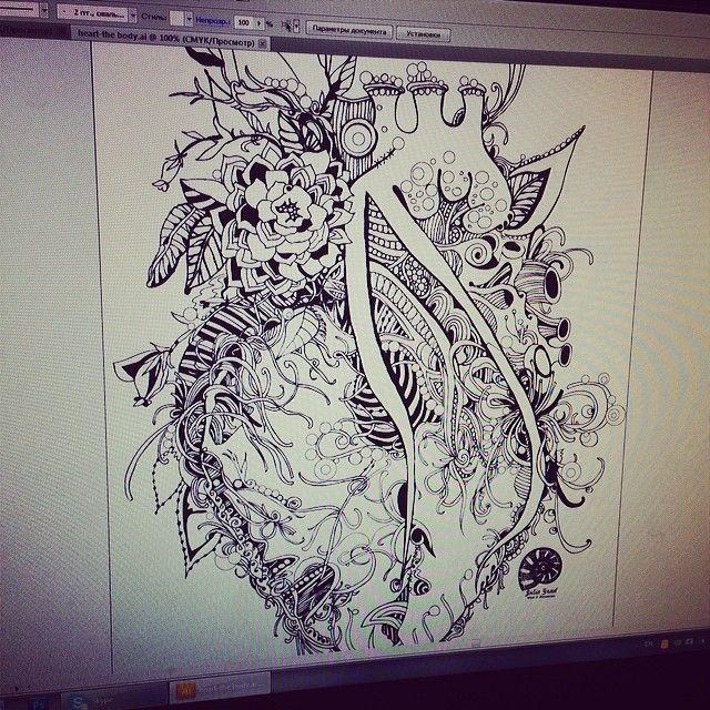 Самые красивые глаза у того, кто смотрит на тебя с любовью....#heart #valentine #body #love #pen #draw #sketch #illustrator #handmade #ink #tattoo #style #juliagrad