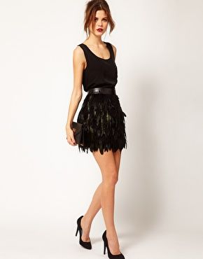 17 Best ideas about Feather Skirt on Pinterest | Feather dress ...
