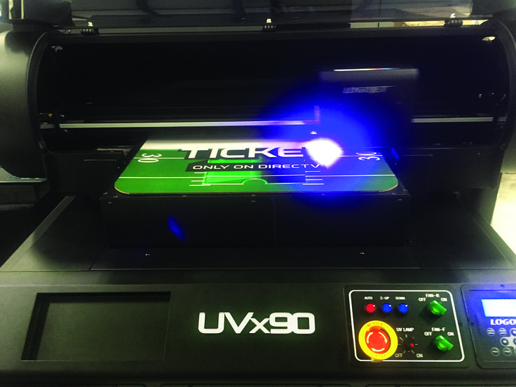 "LogoJET's new UVx90 Printer - full color printing on sign material with an expanded imprint size of 24"" x 36"". www.logojet.com"