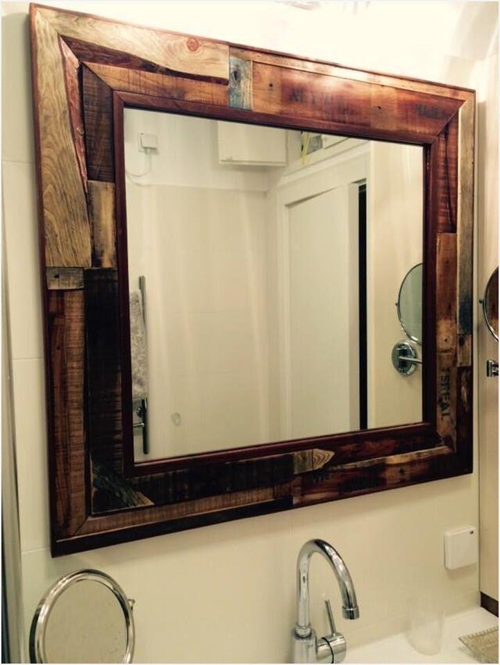 43 Stunning Rustic Bathroom Mirrors Ideas Comedecor Rustic Bathroom Mirrors Pallet Mirror Rustic Bathroom