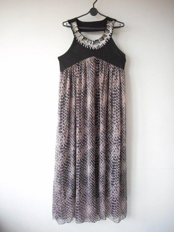 c4b975e7b7 Długa wzorzysta sukienka r. 42   44 - Pistachio - vinted.pl