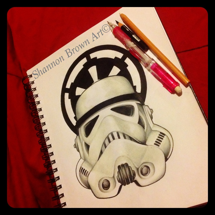 Stormtrooper and the Galactic Empire emblem