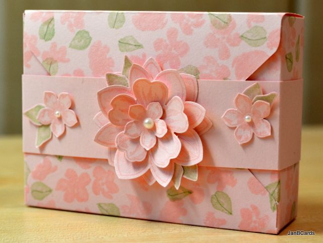 I made this box using the Envelope Punch Boards, Pink Pirouette card stock and Painted Petals stamp set. I also made a video tutorial showing how I made it: https://youtu.be/aa9F0G-MgG8