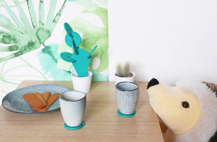 cactus dessous de verre diy d co cactus et bricolage. Black Bedroom Furniture Sets. Home Design Ideas