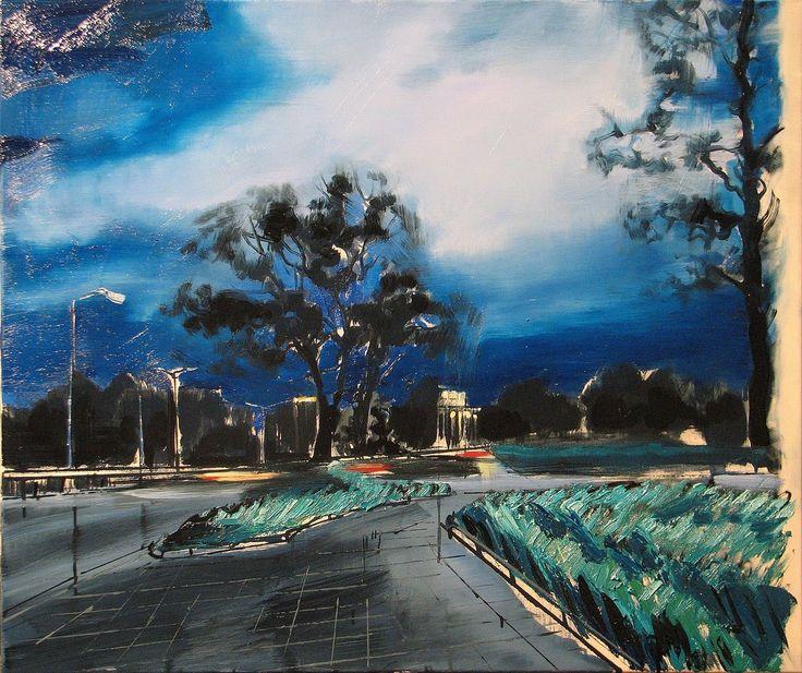 'Już nie grzmi, ale trochę pada', 2014, 80x95 cm, olej na płótnie
