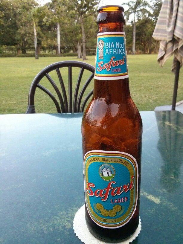 Safari beer. Local to Tanzania.