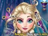 Si adoras la peluquería, diviértete cambiando el look de Elsa Frozen. Usa las herramientas para cortar, alisar, rizar o hacer crecer el cabello.