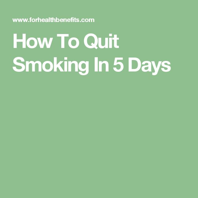 How To Quit Smoking In 5 Days
