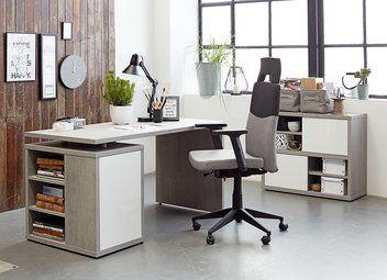 Bureau ULLITS grijs/wit hoogglans