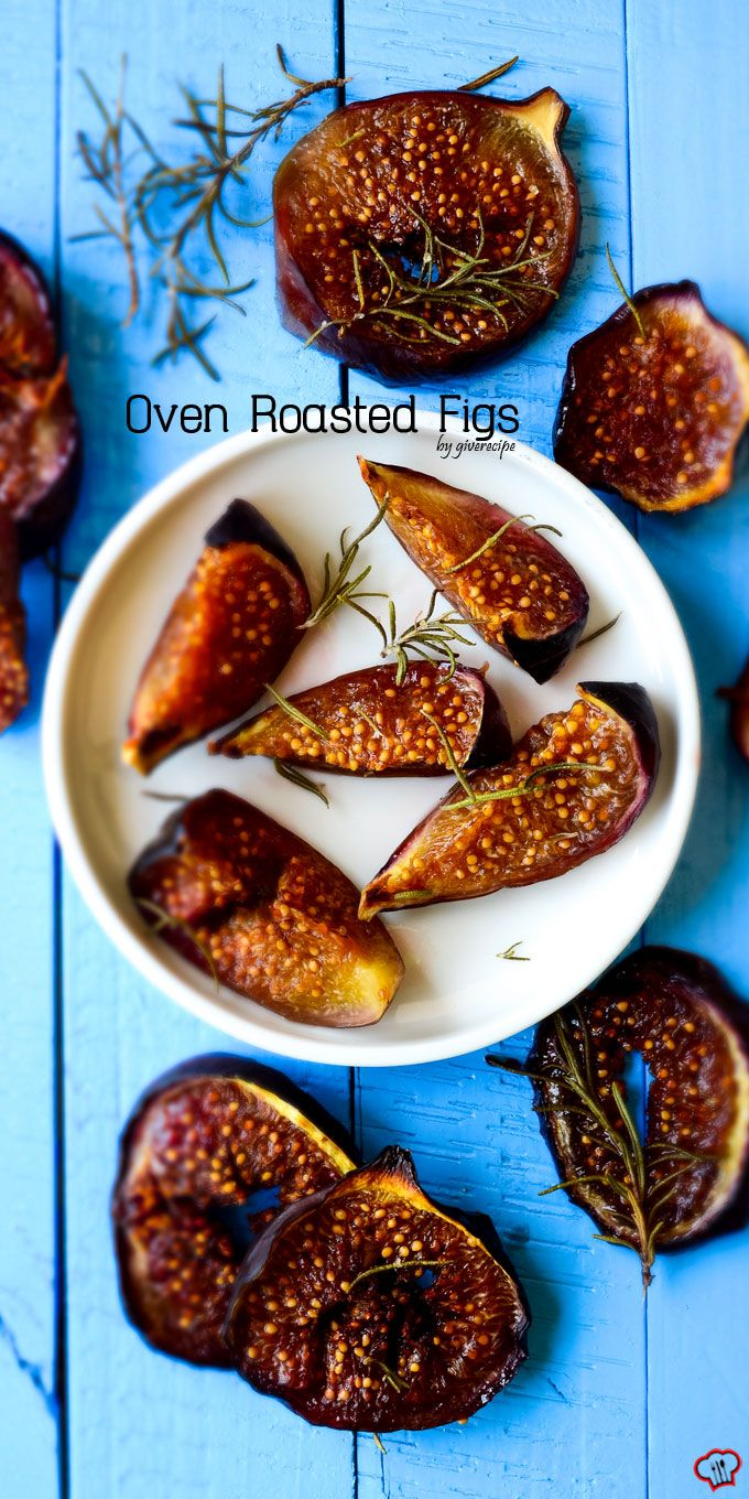Simple Oven Roasted Figs couldn't be easier! Put the figs in oven and forget them for 40 min! Cinnamon, rosemary and honey make these really addictive! | giverecipe.com