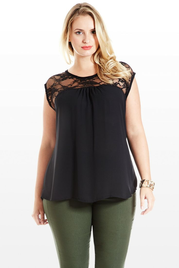 Laced With Secrets Sleeveless Plus Size Top - the pants have to go but I love the top
