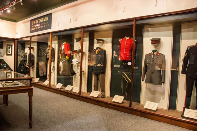A variety of uniforms are on display  http://citysightseeing-blog.co.za/2014/06/07/ditsong-national-museum-of-military-history-johannesburg/