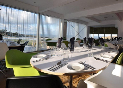 Views from the restaurant overlooking the beautiful coastpath of north cornwall