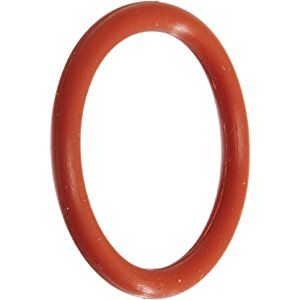 """211 Silicone O-Ring, 70A Durometer, Red, 13/16"""" ID, 1-1/16"""" OD, 1/8"""" Width (Pack of 5)"""