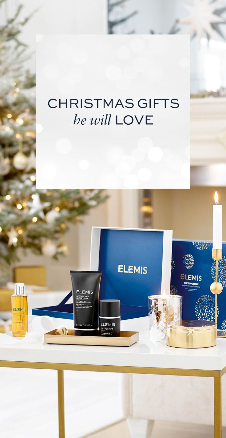 Christmas gifts for him. Inspired skin and bodycare that delivers results for men. Shop now on ELEMIS.COM.