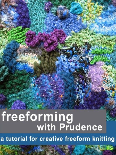 tutorial for creative freeform knitting by FreeformByPrudence, $8.50 help with all your own couture designs