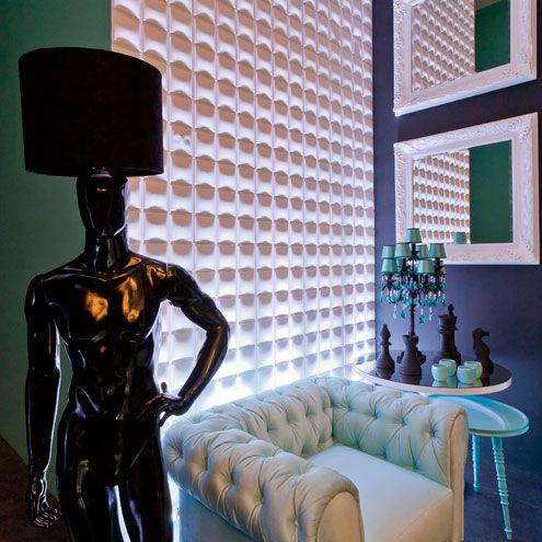 Casa Cor in Sao Paulo Brazil exceeded even our wildest expectations with these magnificent walls made of our Cubes design. Simply breathtaking!  http://www.mywallart.com/
