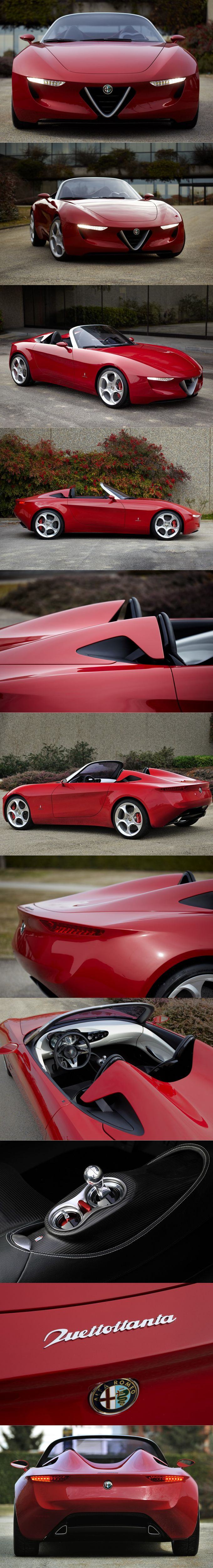 2010 Alfa Romeo 2uettottante / Duetto tribute / Pininfarina 80th anniversay / Alfa Romeo centenary / Italy Belgium / red / concept / Lowie Vermeersch