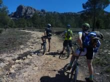 Espubike Mountain Bike challenge, we head off to climb the 1,400 metre ascent, hard but amazing views at the top