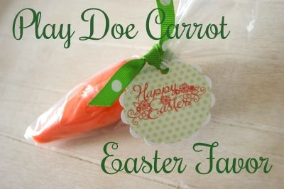 The Life of a Craft Crazed Mom: Play Doe Carrot Easter Favor