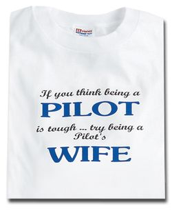 PILOT'S WIFE T-SHIRT MEDIUM at CrewGear