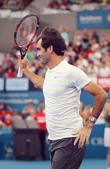 Roger Federer in Brisbane