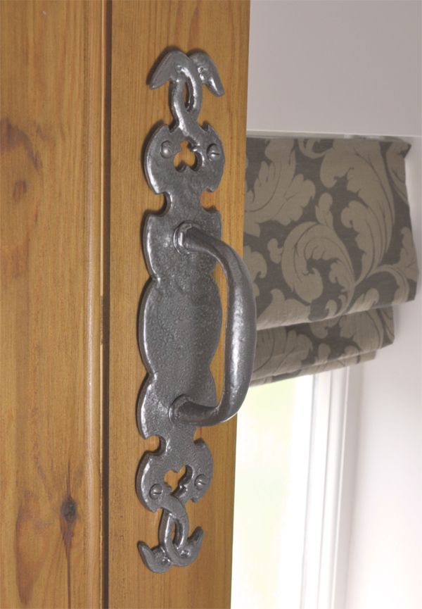 Kirkpatrick 576 Twining Door Pull Handle - Pewter Finish - A high quality, iron pull handle. Unsurpassable British quality, hand forged in a foundry in the West Midlands.