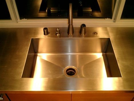 Integrated Sink W/ Stainless Countertops. Donu0027t Know What I Think Of  Stainless