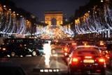 The Avenue des Champs Elysées festively lit for Christmas.