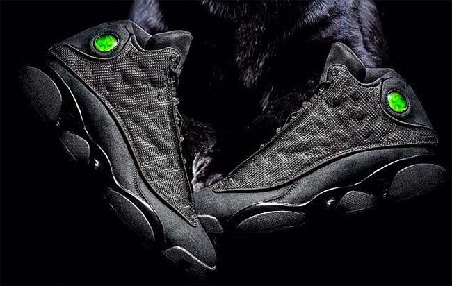 NIKE AIR JORDAN 13 RETRO BLACK CAT [BLACK / BLACK-ANTHRACITE] 414571-011