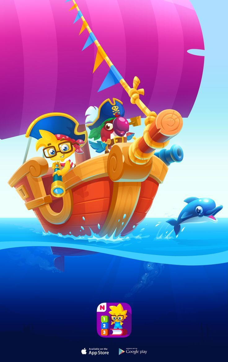 Beautiful game art. Educational game for kids. iOS app for kids. Professional ga… – UI_element